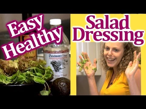 Healthy Easy Salad Dressing, Simple Vinegarette Recipe With Avocado | Stupid Easy Kitchen!