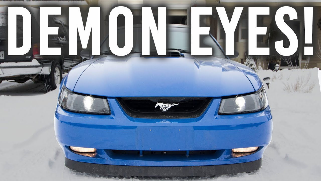 how to retrofit your 99 04 mustang headlights demon eyes youtube how to retrofit your 99 04 mustang headlights demon eyes