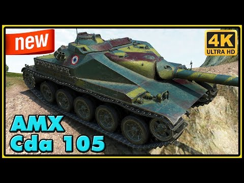 AMX Canon d'assaut de 105 - New French Premium TD - 3 Kills - 4K Damage - World of Tanks Gameplay