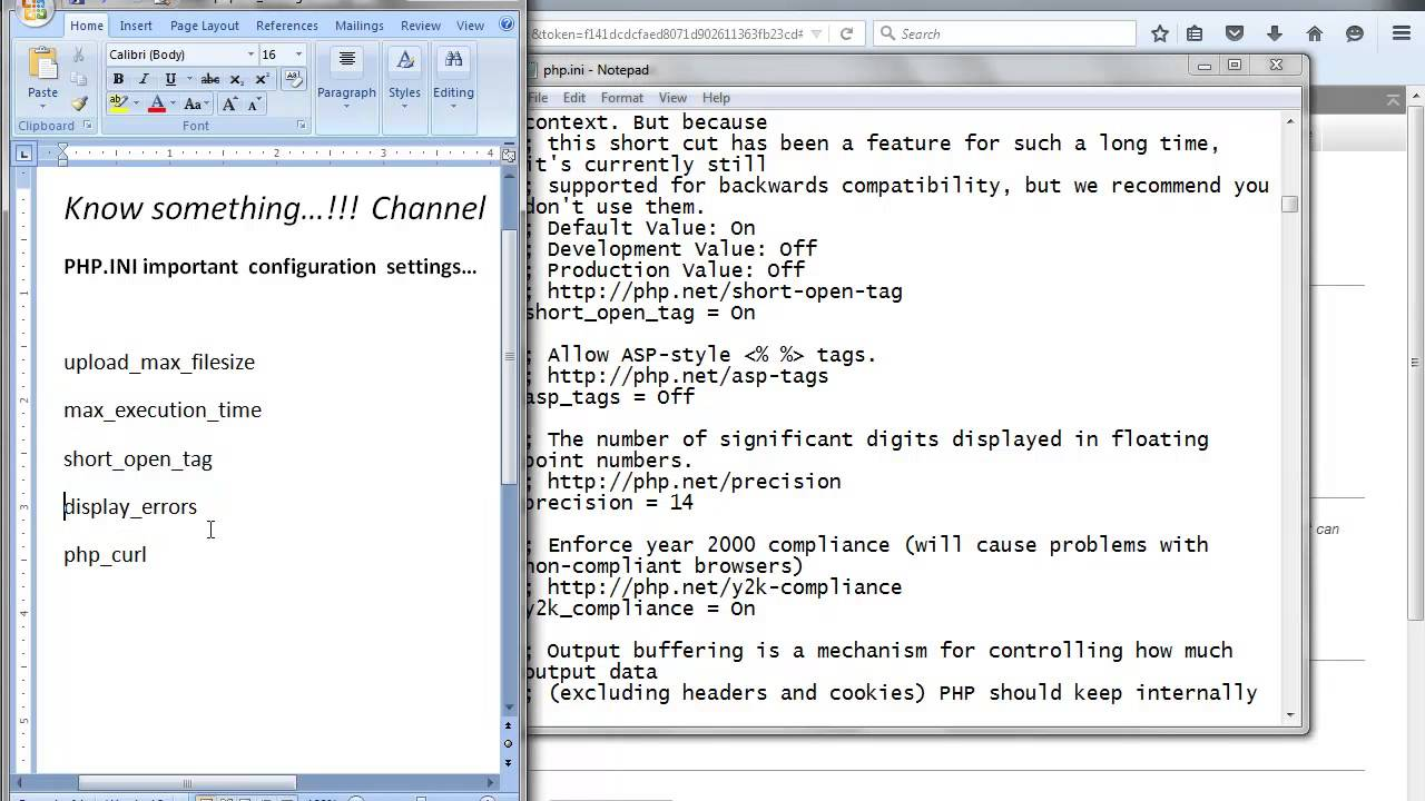 php ini - 5 important configuration settings
