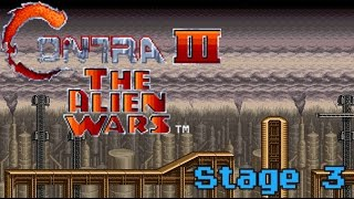Contra III: The Alien Wars - Stage 3 (Neo Kobe Steel Factory)