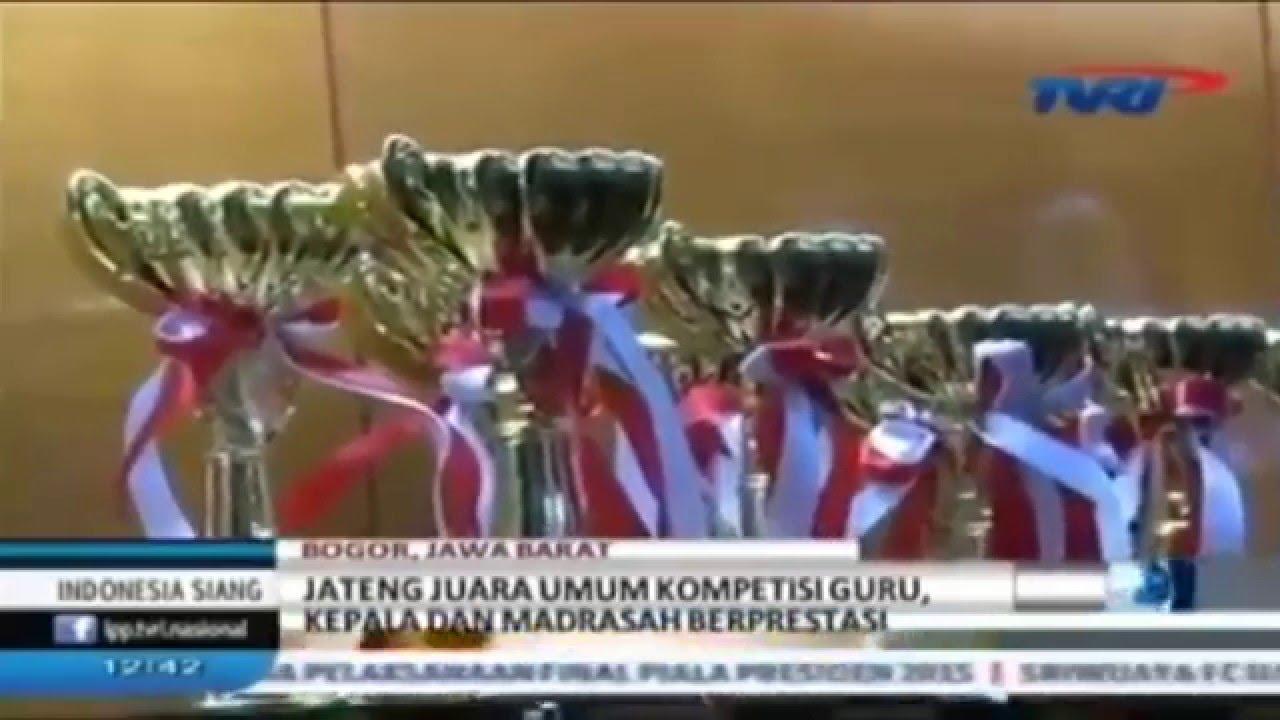 Jawa Tengah Juara Umum Kompetisi Guru Dan Kepala Madrasah Berprestasi Tahun 2015
