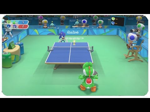 Mario & Sonic at the Rio 2016 Olympic Games (Wii U) - Table Tennis All Characters Gameplay