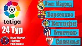 Футбол.Чемпионат Испании 2019/20 Ла Лига 24 тур Итоги матчей Расписание