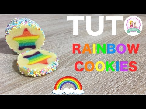 ♡•-recette-biscuits-arc-en-ciel---how-to-make-rainbow-cookies-recipe-•♡