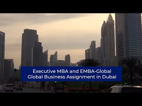 Executive MBA and EMBA-Global l Global Business Assignment in Dubai