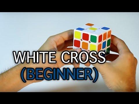 3x3x3 Rubiks Cube: Solving the White Cross Only (Beginner Method)