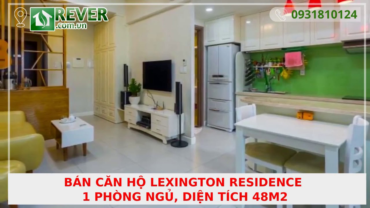 Bán căn hộ Lexington Residence 1PN, diện tích 48m2