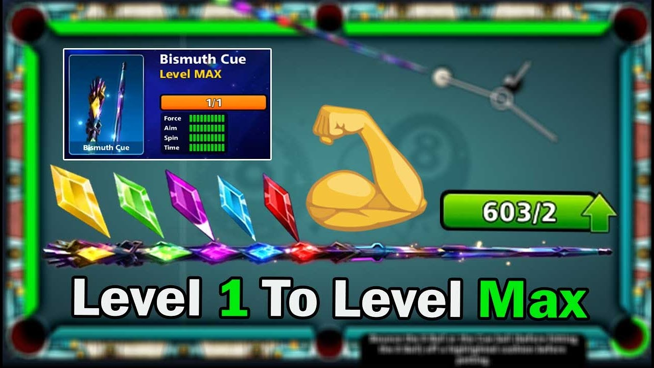 8 ball pool Bismuth Cue Level 1 To 41 Max 😍 600 Piece