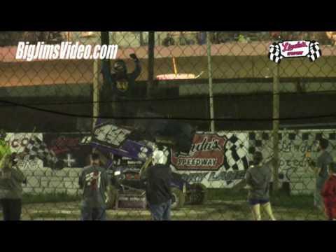 Linda's Speedway Highlights Crashes Flips 8-5-16