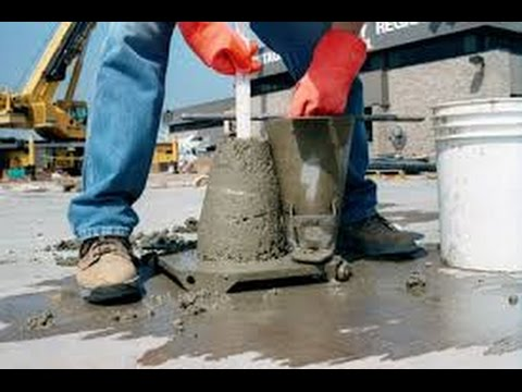 Civil Engineering Testing of Concrete - Slump Test