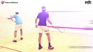 Squash training drills with the Shorbagy brothers. Powered by PDHSports with Tecnifibre