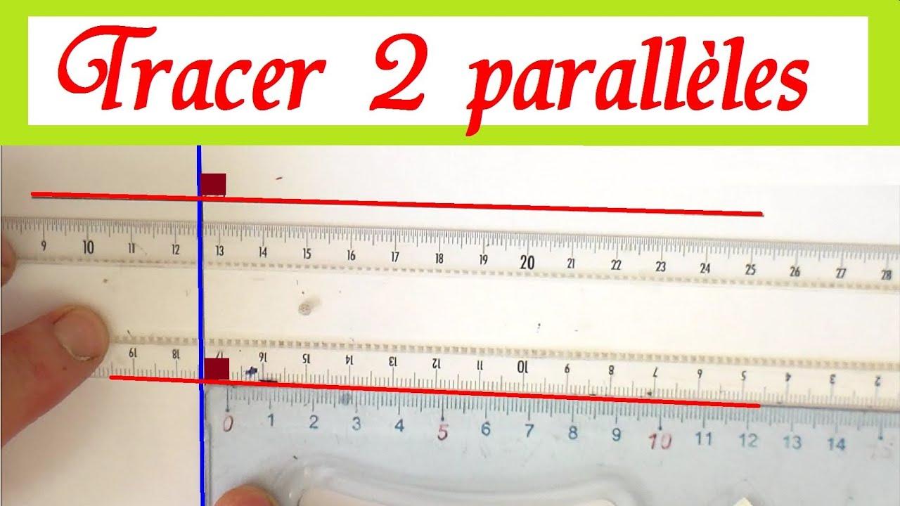 Tracer des droites parallèles : Maths géométrie cm1 cm2 ...