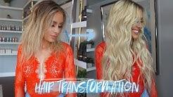 BELLAMI PRO HAIR TRANSFORMATION   BRONDE OMBRE TO PLATINUM BLONDE