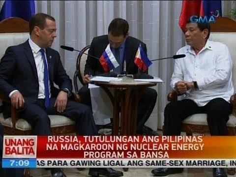 UB: Russia, tutulungan ang Pilipinas na magkaroon ng nuclear energy program sa bansa