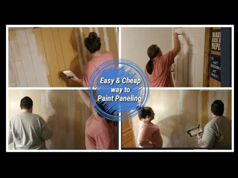 Easy and Cheap Way to Update Wall Paneling