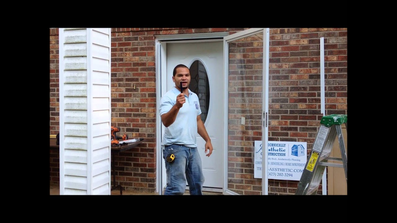 Installing A Fullview Andersen Emco Storm Door Part 2