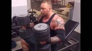 The Mountain - Hafþór Júlíus Björnsson - Dumbbell 284.4 lbs - #Easy