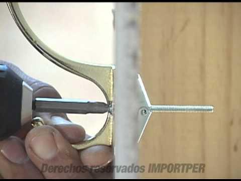 Para pared hueca mariposa youtube - Instalacion de pladur en paredes ...