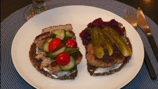 Smørrebrød Danish Frikadeller. Quick & Easy Open Face Meatball Sandwich For Lunch & Dinners