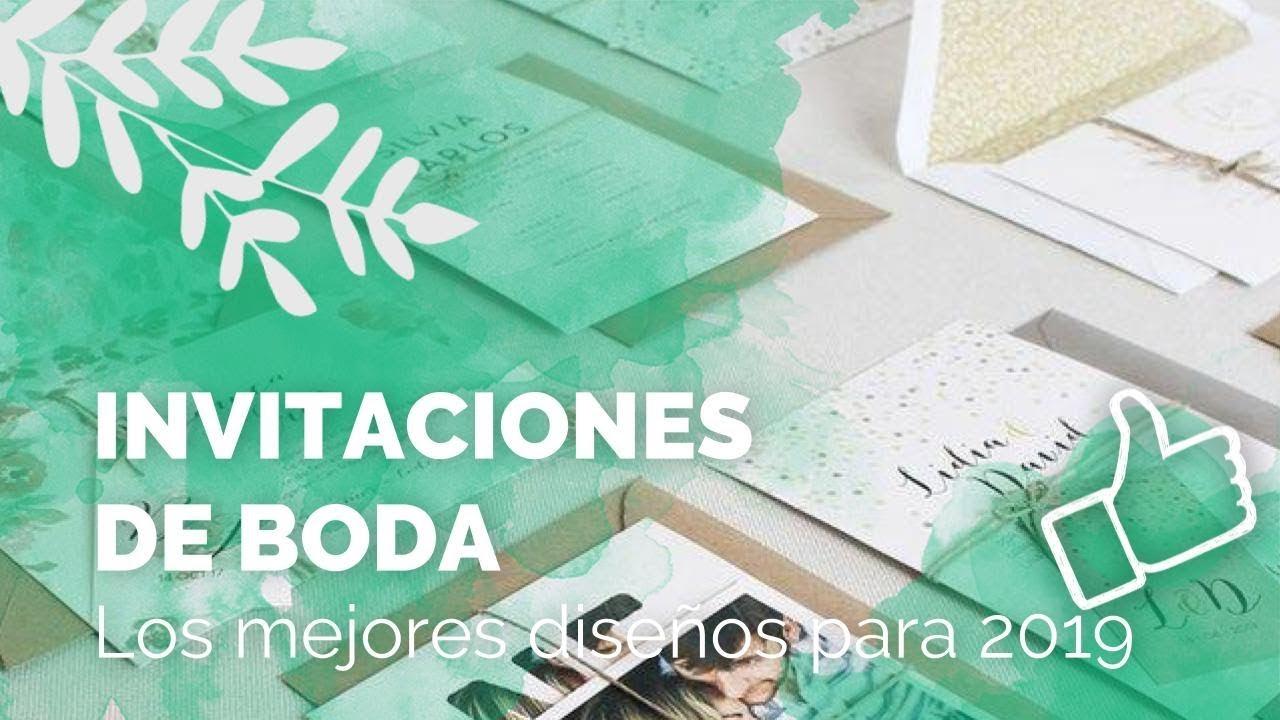 Invitaciones De Boda 2019 Los Mejores Diseños