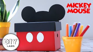 MICKEY MOUSE BOX  Paper Craft  Fast-n-Easy  DIY Labs