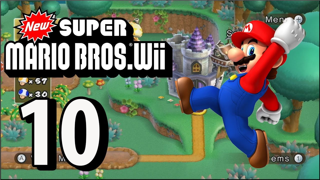 New Super Mario Bros Wii Part 10 4 Player 2018 Youtube