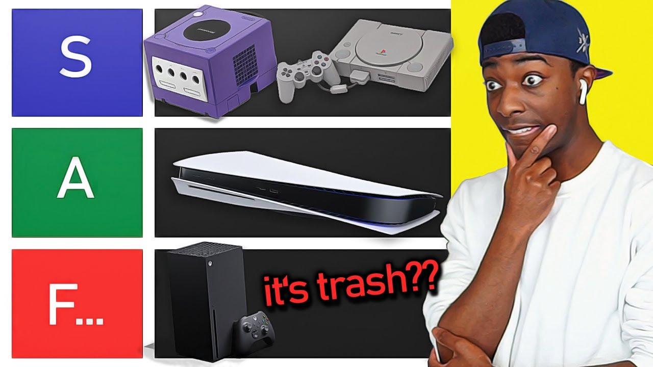 ULTIMATE CONSOLE TIER LIST... PS5 vs Xbox Series X vs Wii