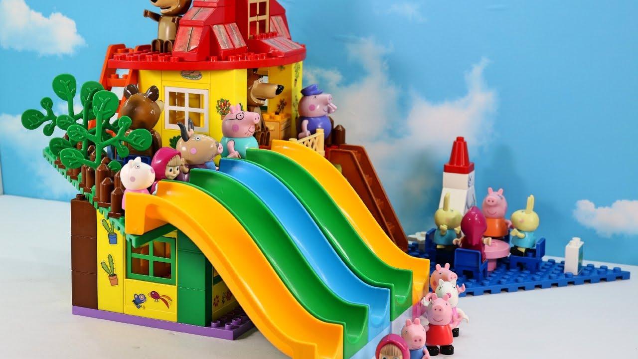 Lego Full House Peppa Pig Blocks Mega House Lego Creations Sets With Masha And The