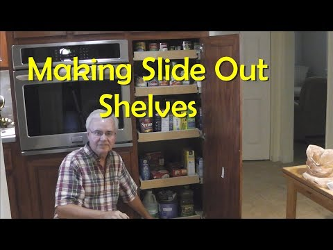 Making and Installing Kitchen Pantry Pullout Shelves
