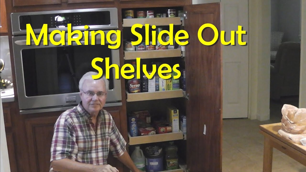 Kitchen Pantry Pullout Shelves