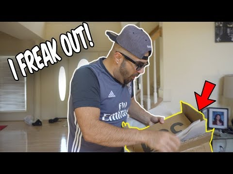 MY INSANE REACTION TO FREE YEEZY AT THE PO BOX! (CRAZY FREAK OUT)