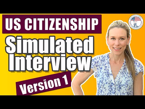 2020 US Citizenship Interview Practice | Naturalization Simulated Mock Interview
