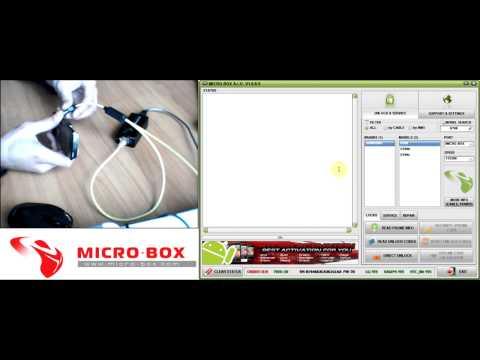Samsung U700 Read Codes with Micro Box
