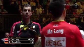Sportschau Tischtennis WM   das Viertelfinale zwischen  Timo Boll und Ma Long