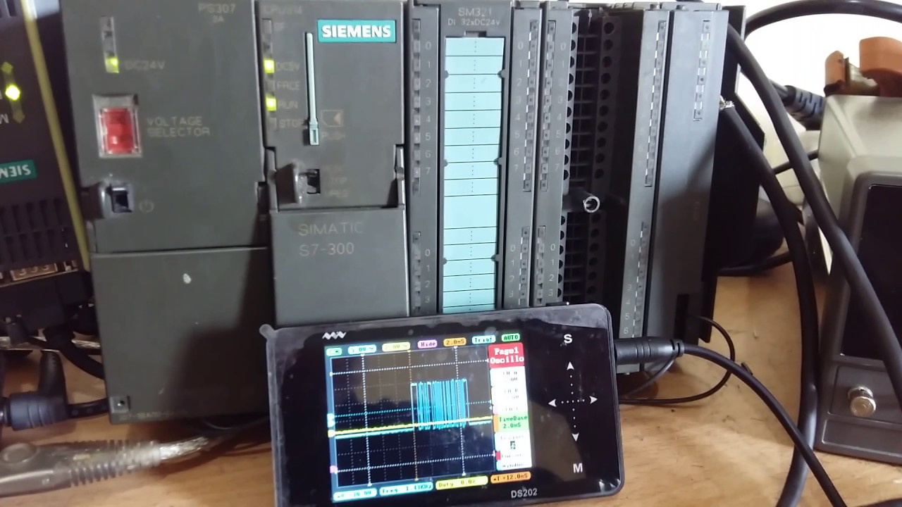 Weighing AND communication to siemens s7300 via cp341 rs485 also to VB