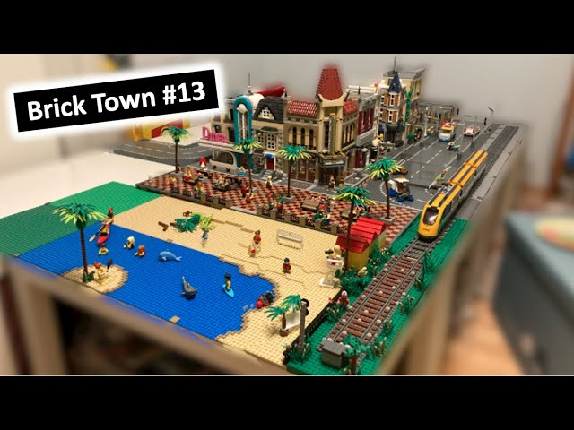 Der Strand + Zugstrecke - XXL Brick Town / Stadtupdate für Mai! (13)