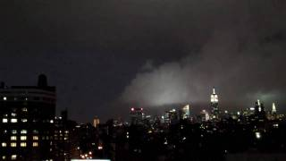 New York City NYC Supercell Lightning Storm 7-23-10 6:50pm Tornado warning