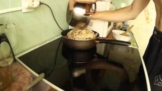 Готовим соевое мясо с китайскими черными древесными грибами