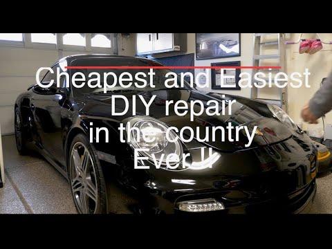 Porsche 997 turbo engine lid/frunk lift support – Cheapest Easiest DIY repair ever!