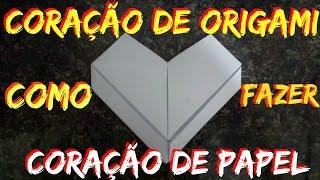 ✔COMO FAZER CORAÇÃO DE ORIGAMI (CORAÇÃO DE PAPEL) - Japanese Origami HEART