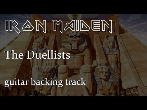 Iron Maiden - The Duellists guitar backing track with vocals