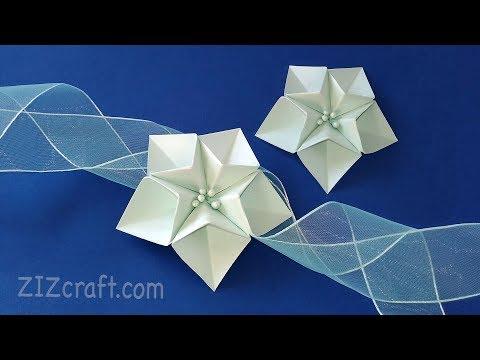 How to make Origami flower - 5 petals flower. DIY gift decoration.