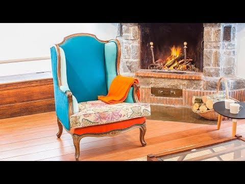 Cómo tapizar un sillón orejero con telas de colores - Decogarden