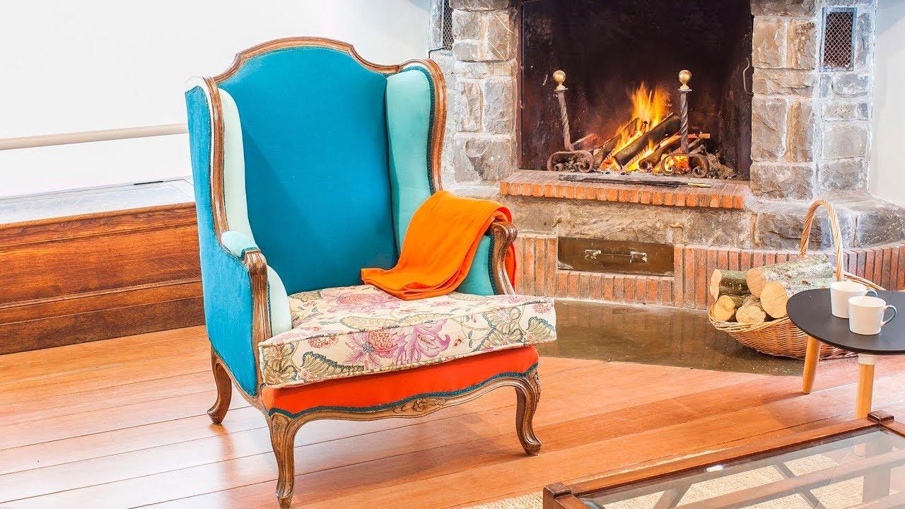 C mo tapizar un sill n orejero con telas de colores - Materiales para tapizar ...