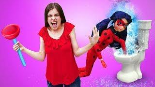 Куклы Леди Баг! Антибаг украла Адриана! Маринетт ищет Супер Кота