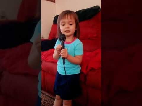 Audrey on karaoke