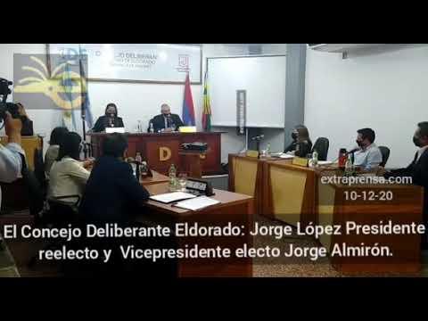 Autoridades del el CDE para la gestión 20-21 Jorge López reelecto presidente y Jorge Almirón vice