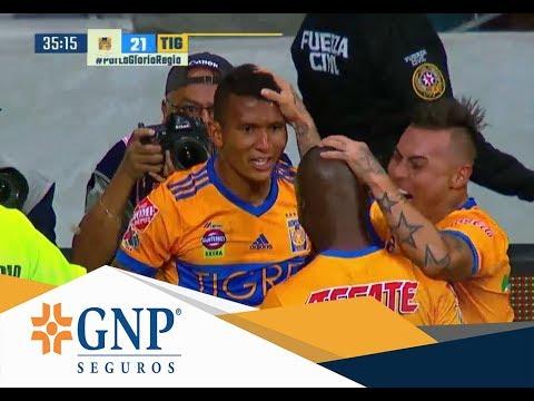 Gol de Francisco Meza   Monterrey 1 - 2 Tigres   Final Apertura 17   Presentado por GNP Seguros