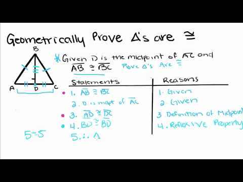 Geometry - 4 - Proving Triangles Congruent